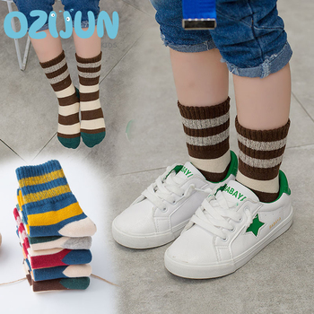 5 Pairs/Lot 2017 Autumn Winter Children Girls Boys Socks Fashion Cartoon Combed Cotton Kids Student Socks 3 Size
