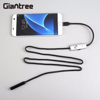 Giantree 7mm 1 M Telefonu Endoskop IP67 Borescope LED Video Kamera Yılan Boru Muayene Android OTG Mikro USB Borescope kamera